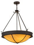 "Country Ceiling Lights Meyda 116717 - 32""W Phoebus Inverted Pendant Light"