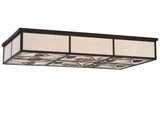 "Cabin Style Ceiling Lights Meyda 117123 - 60""L Mountain Pine Oblong Flushmount Light"