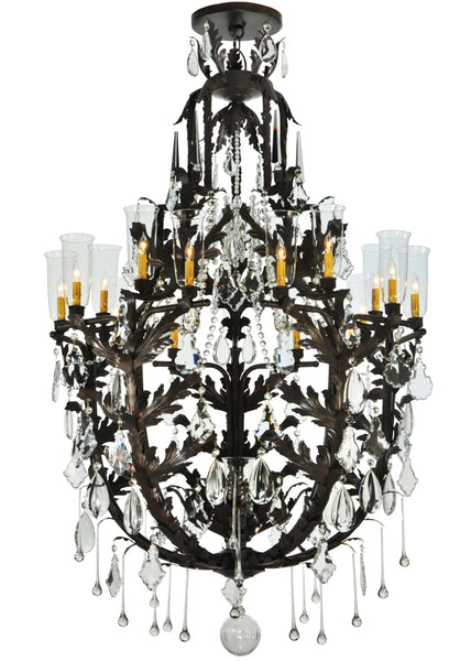 "Rustic Country Style Ceiling Lights Meyda 117280 - 48""W French Baroque 16 LT Chandelier"