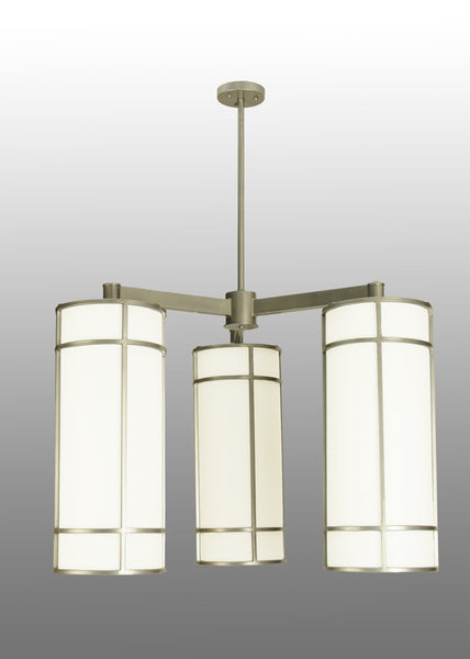 "Modern Log Cabin Ceiling Lights Meyda 117579 - 49""W Cilindro Jackson Hall 3 LT Chandelier"