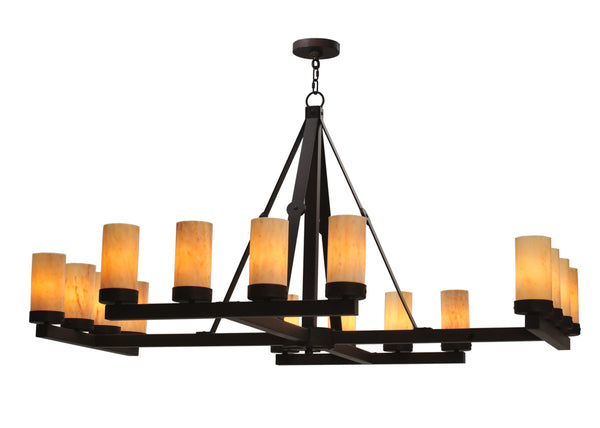 "Modern Lodge Style Ceiling Lights Meyda 117966 - 60""W Parker 16 LT Chandelier"