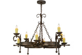 "Rustic Farmhouse Ceiling Lights Meyda 119771 - 42""W Andorra 8 LT Chandelier"