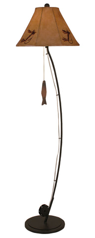 Modern Farmhouse Floor Lamps - Iron Fly Pole Floor Lamp