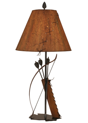 Log Cabin Style Table Lamps - Riverwoods Bow and Arrow Table Lamp