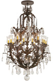 "Rustic Cabin Style Ceiling Lights Meyda 120332 - 40""W French Baroque 16 LT Chandelier"