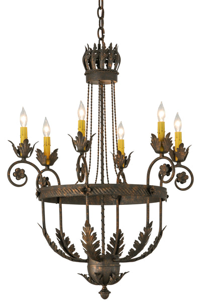 "Country Style Ceiling Lights Meyda 120411 - 26""W Antonia 6 LT Chandelier"