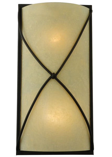 "Farmhouse Style Wall Sconce Lighting Meyda 120750 - 9""W Aspen Wall Sconce"