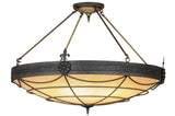 "Country Style Ceiling Lights Meyda 121246 - 48""W Halcyon Inverted Pendant Light"