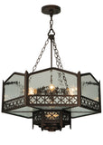 "Farmhouse Style Ceiling Lights Meyda 122596 - 30""W Church Pendant Light"