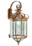 "Rustic Cabin Wall Sconce Lighting Meyda 122800 - 21""W Anza Lantern Wall Sconce"