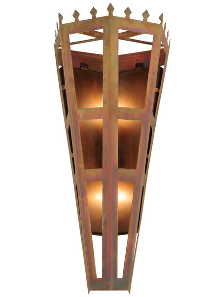 "Rustic Style Wall Sconce Lighting Meyda 123235 - 7.5""W Woolf Octagon Wall Sconce"