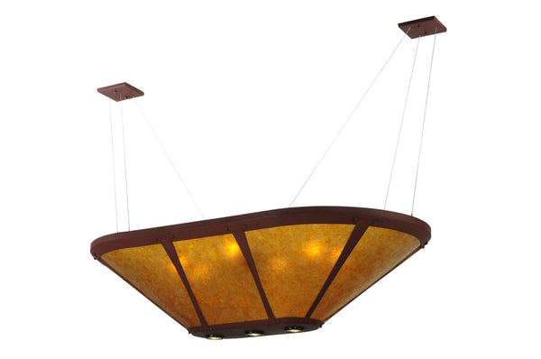 "Modern Country Style Ceiling Lights Meyda 123602 - 50""L Van Erp Oblong Inverted Pendant Light"