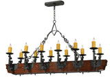 "Modern Log Cabin Style Ceiling Lights Meyda 124272 - 60""L Tudor LED 12 LT Chandelier"