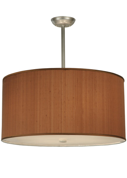 "Modern Lodge Ceiling Lights Meyda 124491 - 24""W Cilindro Brown Textrene Pendant Light"