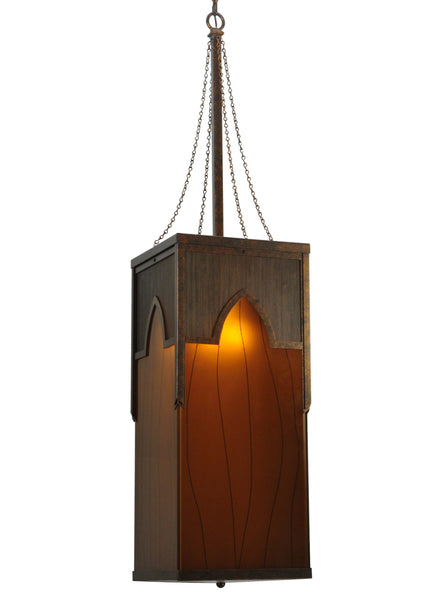 "Modern Cabin Style Ceiling Lights Meyda 125519 - 15""Sq Cordoba Pendant Light"