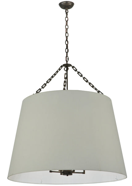 "Cabin Style Ceiling Lights Meyda 127437 - 36""W Cilindro White Tapered Pendant Light"