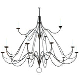 "Modern Farmhouse Style Ceiling Lights Meyda 127595 - 96""W Polonaise 15 Candles Two Tier Chandelier"