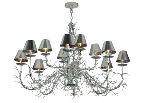 "Country Style Ceiling Lights Meyda 127985 - 48""W Twigs 12 LT Chandelier"