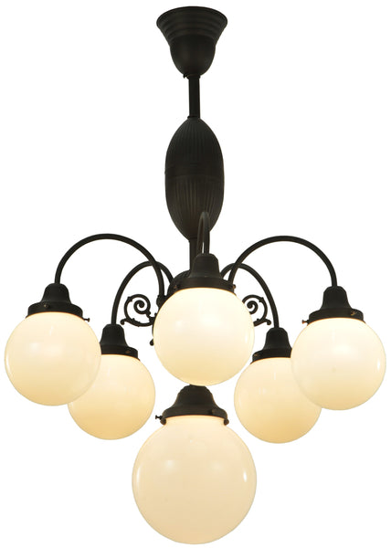 "Rustic Lodge Style Ceiling Lights Meyda 128360 - 23""W Lafayette 6 LT Chandelier"