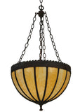 "Modern Rustic Style Ceiling Lights Meyda 129670 - 17""W Gothic Beige Inverted Pendant Light"