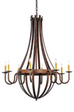 "Farmhouse Ceiling Lights Meyda 129824 - 42""W Barrel Stave Madera 8 LT Chandelier"