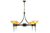 "Rustic Country Ceiling Lights Meyda 130163 - 48.5""W Kuberic 4 LT Chandelier"