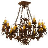 "Log Cabin Ceiling Lights Meyda 130490 - 37.5""Sq Kimberly 20 LT Chandelier"