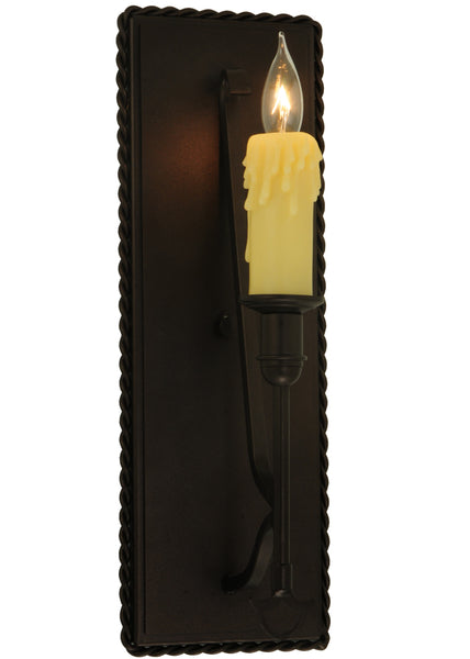 "Log Cabin Style Wall Sconce Lighting Meyda 130505 - 5.5""W Levi Wall Sconce"