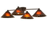 "Lodge Ceiling Lights Meyda 130746 - 36""L Van Erp 4 LT Flushmount Light"