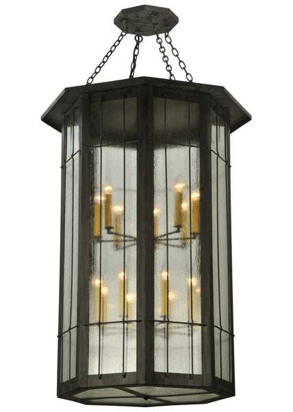 "Lodge Style Ceiling Lights Meyda 131145 - 38""W West Albany 16 LT Pendant Light"