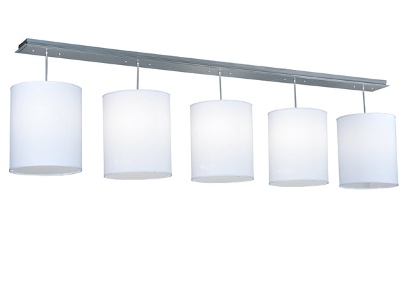 "Modern Lodge Ceiling Lights Meyda 132686 - 104""L Cilindro Linear 5 LT Pendant Light"