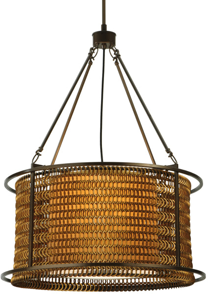 "Modern Cabin Ceiling Lights Meyda 132694 - 24""W Maille Drum Pendant Light"
