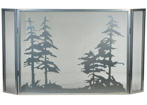 "Country Style Fireplace Screens Meyda 133721 - 50""W X 28""H Tall Pines Fireplace Screen"