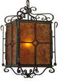 "Rustic Ceiling Lights Meyda 134179 - 12""Sq Standford Hand Painted Pendant Light"
