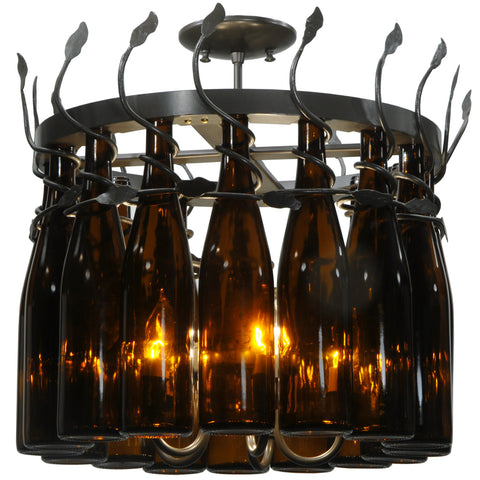 "Rustic Farmhouse Ceiling Lights Meyda 134432 - 20.75""W Tuscan Vineyard Estate 16 Wine Bottle Chandelier"