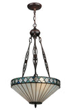 "Modern Farmhouse Style Ceiling Lights Meyda 134525 - 16""W Diamondring Inverted Pendant Light"