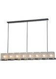 "Country Ceiling Lights Meyda 135816 - 78""L Ice Cube 8 LT Oblong Chandelier"