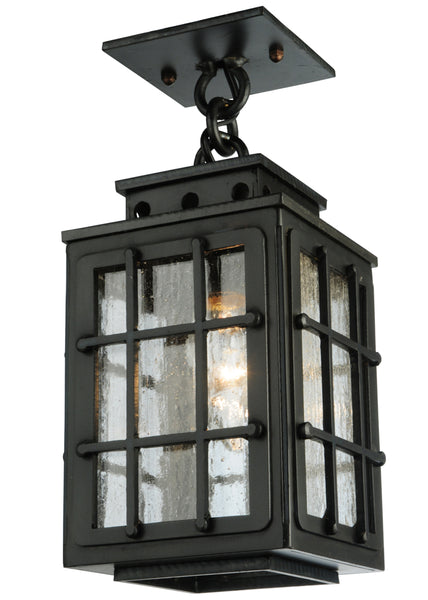 "Rustic Lodge Style Ceiling Lights Meyda 136040 - 6""Sq Pontrefract Lantern Pendant Light"