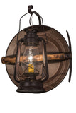 "Rustic Cabin Style Wall Sconce Lighting Meyda 136391 - 14.5""W Miner's Lantern Wall Sconce"
