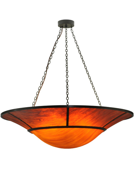 "Cabin Style Ceiling Lights Meyda 137060 - 61.5""W Vesuvius Inverted Pendant Light"