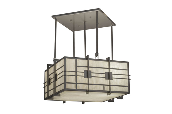 "Modern Country Style Ceiling Lights Meyda 137513 - 24""Sq Spalding Pendant Light"