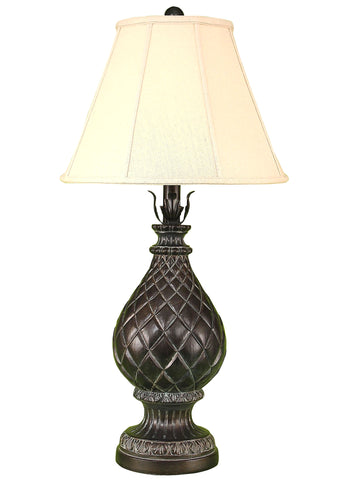 Modern Rustic Style Table Lamps - Verdi Gold Regal Pineapple Table Lamp