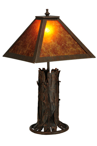 "Rustic Farmhouse Style Table Lamps Meyda 141532 - 20""H Northwoods Mission Prime Accent Lamp"