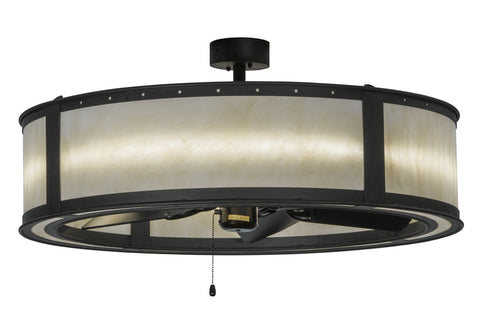 "Modern Farmhouse Style Ceiling Lights Meyda 143992 - 36.5""W Smythe Craftsman Chandel-Air"