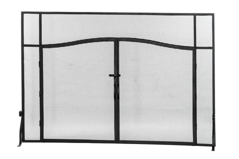 "Cabin Style Fireplace Screens Meyda 144657 - 62""W X 42""H Prime Fireplace Screen"