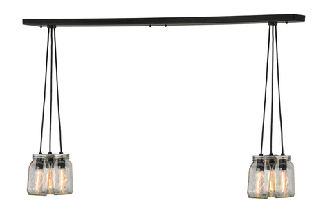 "Cabin Ceiling Lights Meyda 145076 - 48""L Mason Jar 6 LT Island Pendant Light"