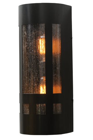 "Modern Lodge Wall Sconce Lighting Meyda 145684 - 7""W Van Erp Wall Sconce"