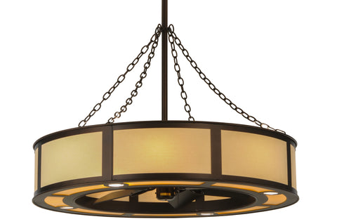 "Modern Lodge Style Ceiling Lights Meyda 149154 - 44""W Maplewood Chandel-Air"