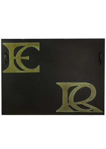 Rustic Farmhouse Fireplace Screens Meyda 151681 - MONOGRAM FIREPLACE COVER