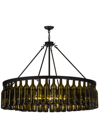 "Rustic Ceiling Lights Meyda 152072 - 48""W Tuscan Vineyard Estate 44 Wine Bottle Chandelier"